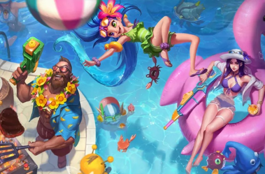 Riot teases new Pool Party League skins by showing champion's legs