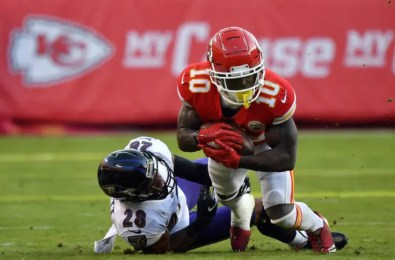No Tyreek Hill doesn't mean Baltimore Ravens can relax vs. KC