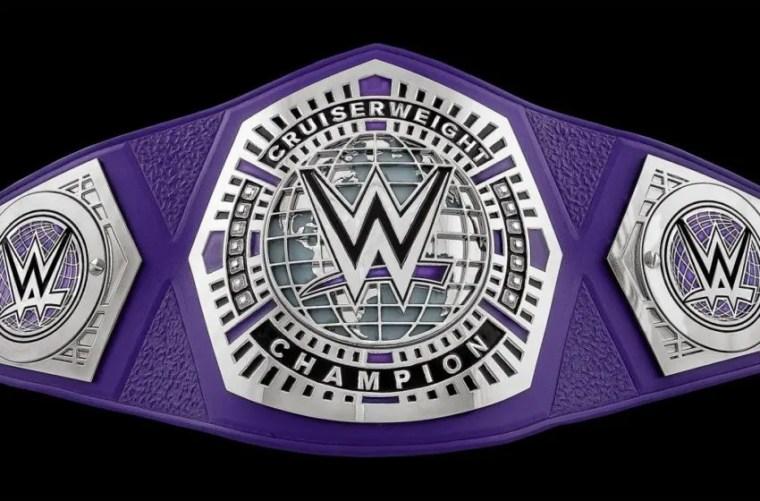 WWE Cruiserweight title belt