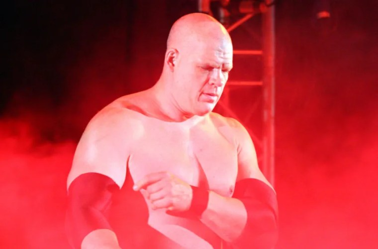 DURBAN, SOUTH AFRICA - JULY 08: The Big Red Monster Kane during the WWE Smackdown Live Tour at Westridge Park Tennis Stadium on July 08, 2011 in Durban, South Africa. (Photo by Steve Haag/Gallo Images/Getty Images)