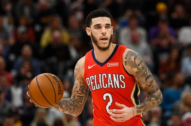 Lonzo Ball of the New Orleans Pelicans: (Photo by Alex Goodlett/Getty Images)