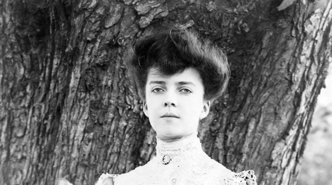 Alice Roosevelt—for whom Alice Blue is named—in 1902