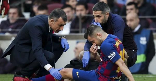 CONFIRMADO   Jordi Alba es baja por lesión en el aductor de la pierna derecha