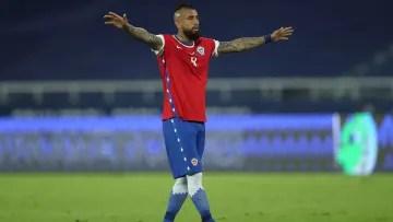 Arturo Vidal playing the Copa América