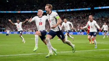 Kane celebrating the move to the final