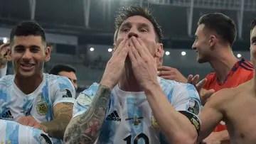Messi against Brazil