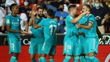 El Real Madrid venció al Valencia la última vez