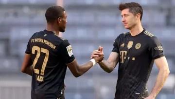 Alaba and Lewandowski in their last match together