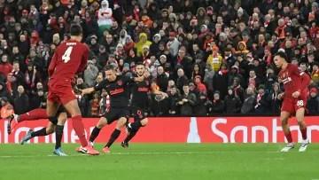 Marcos Llorente against Liverpool