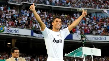 Cristiano Ronaldo in his presentation with Real Madrid