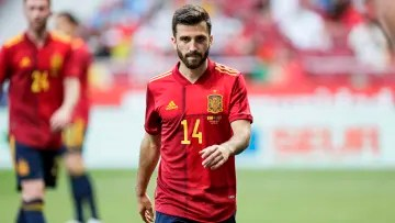 Jose Gaya in a friendly with the national team