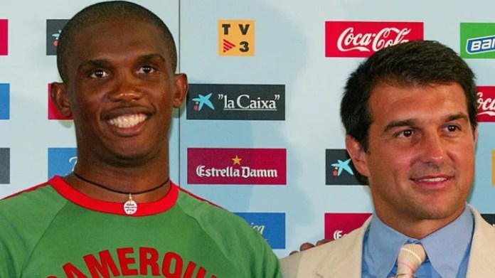 Cameroon's football player Samuel Eto'o