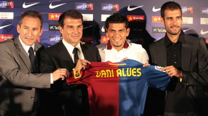 (From L) Barcelona's director of footbal