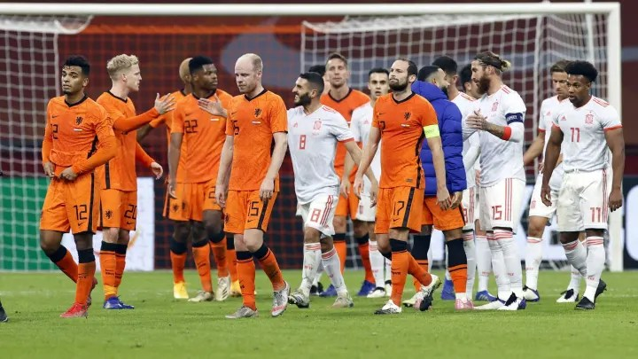 "International friendly match""The Netherlands v Spain"""