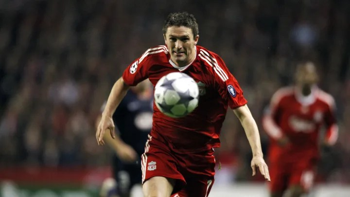Liverpool's Irish forward Robbie Keane e