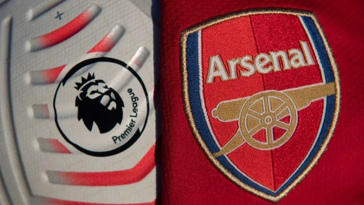 The Official Nike Premier League Match Ball with the Arsenal Badge