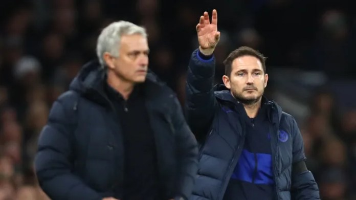 Frank Lampard, Jose Mourinho, Davinson Sanchez