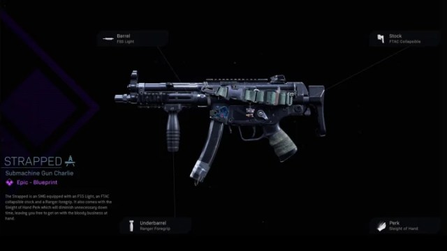 Strapped Warzone Blueprint for the MP5 can be unlocked by buying the Nightstalker bundle.