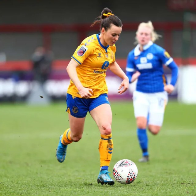 Everton's Hayley Raso scored a perfect hat-trick in March