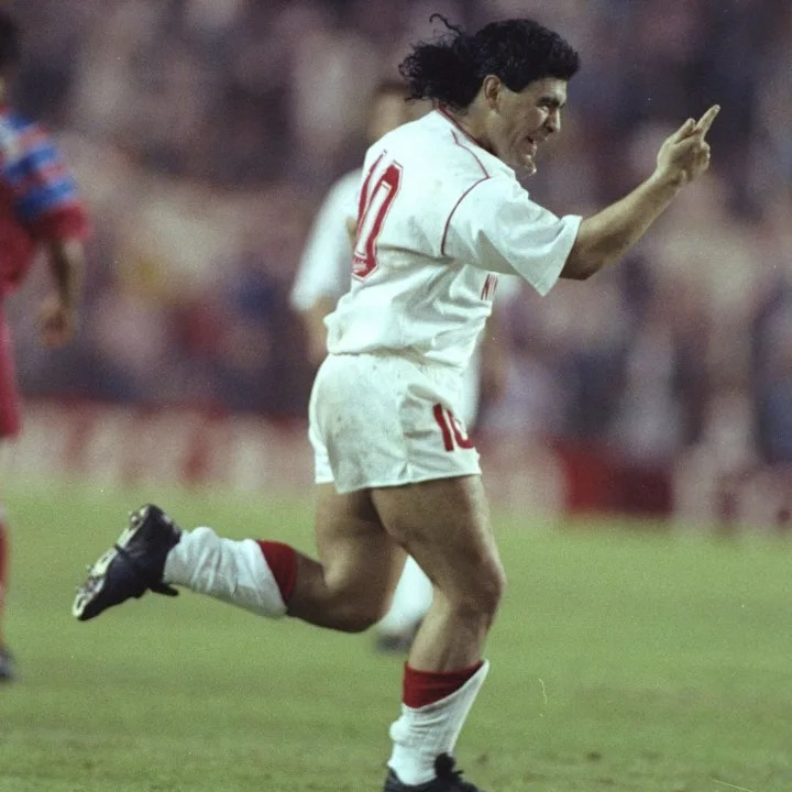 Diego Maradona of Seville