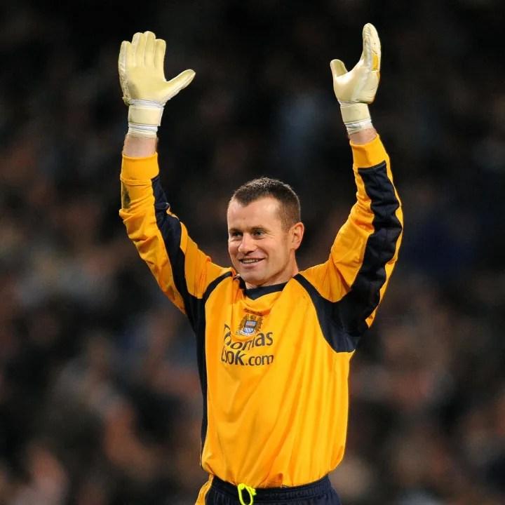 Manchester City's Irish goalkeeper Shay