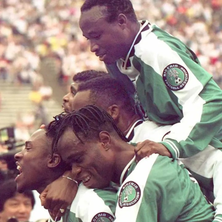 Members of the Olympic soccer team from Nigeria ce