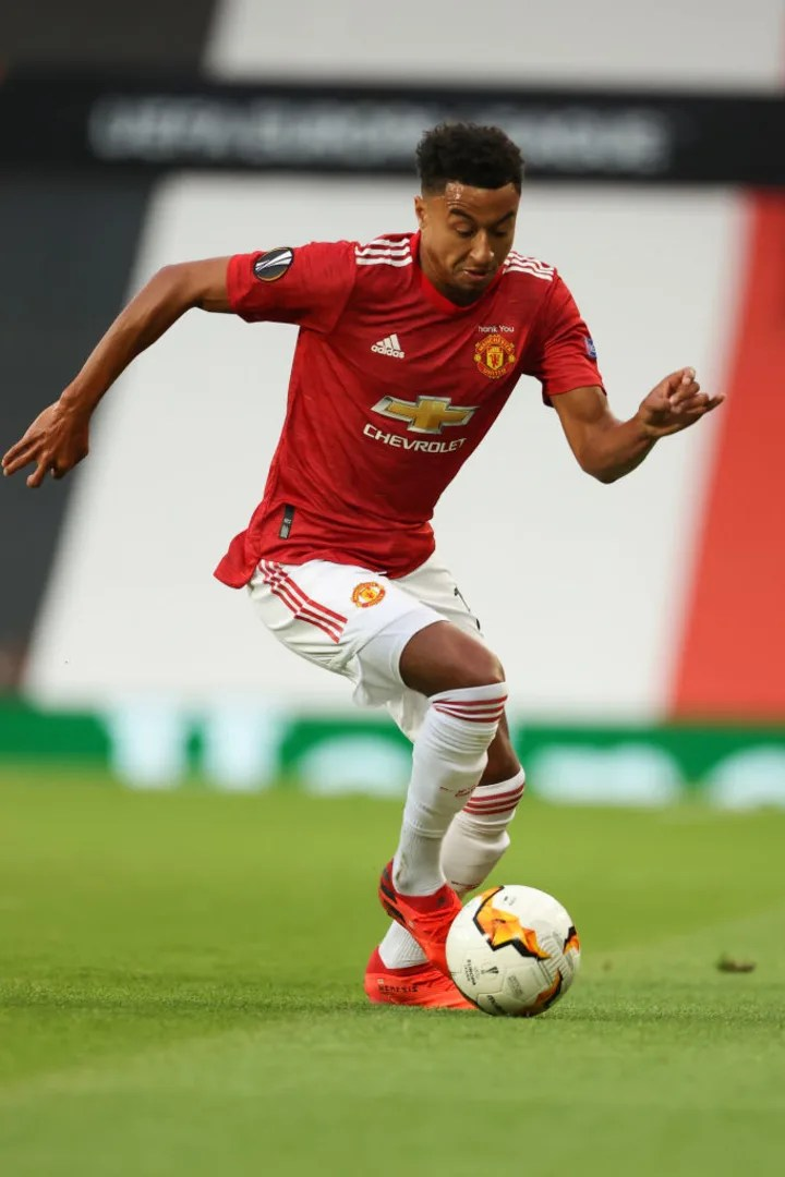 Lingard has only played in the Carabao Cup this season