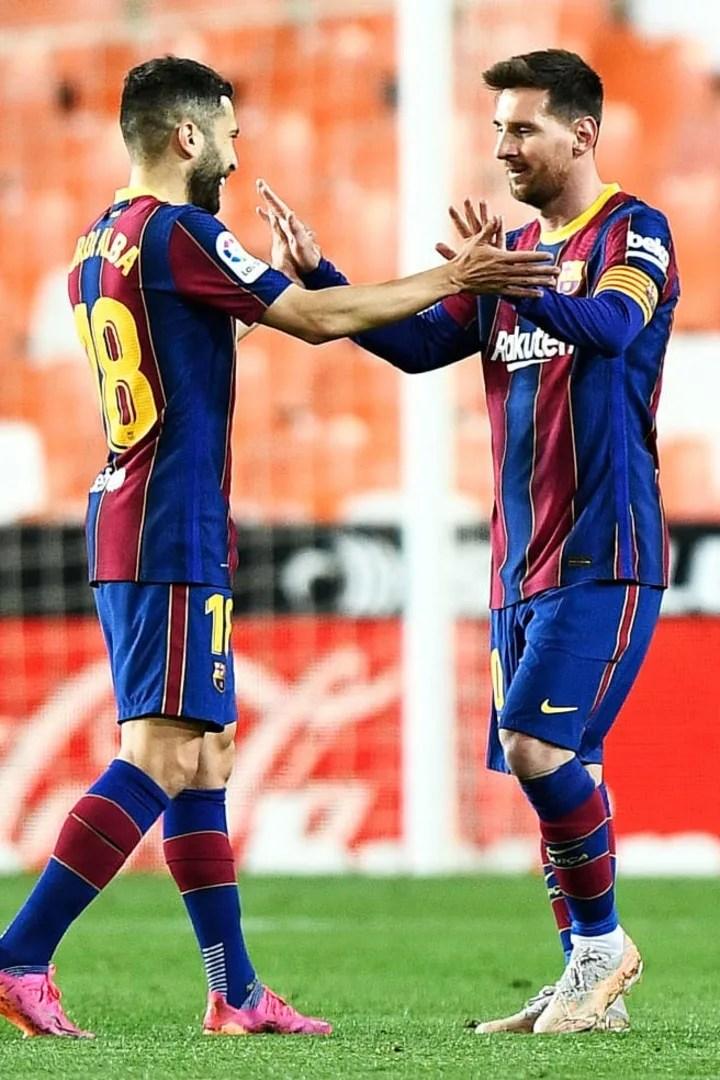 Lionel Messi, Jordi Alba