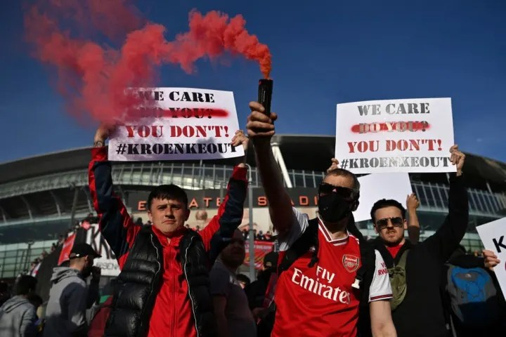 The ESL scandal has been a catalyst for fan protests against owners at Man Utd & Arsenal