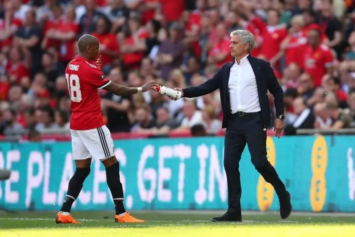 Ashley Young, Jose Mourinho