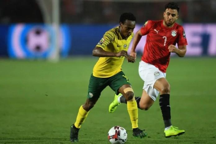 Tau ishte pjesë e anës së Afrikës së Jugut që eliminoi Egjiptin mikpritës nga Kupa e Kombeve Afrikane 2019
