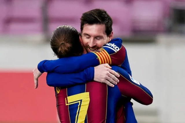 Lionel Messi had handed his side the lead