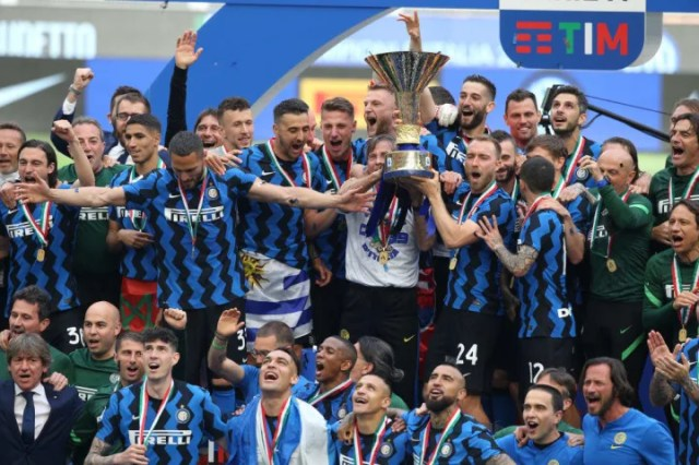 Inter cruised to their first title in 11 years