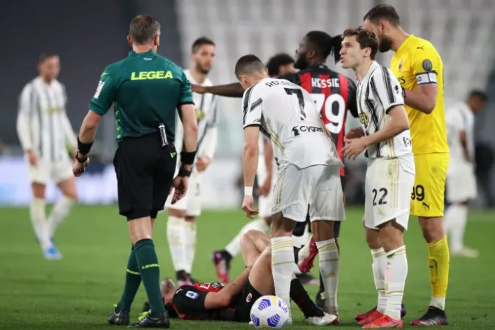 Federico Chiesa, Paolo Valeri, Gianluigi Donnarumma, Franck Kessie, Cristiano Ronaldo, Davide Calabria
