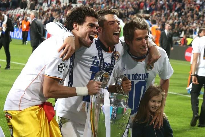Pepe, Fabio Coentrao, Cristiano Ronaldo