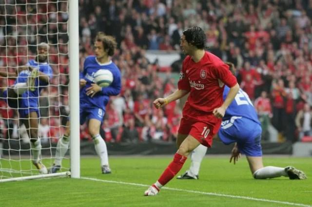 Luis Garcia against Chelsea
