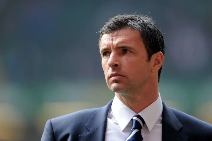 Gary Speed, pictured during his time as Wales manager