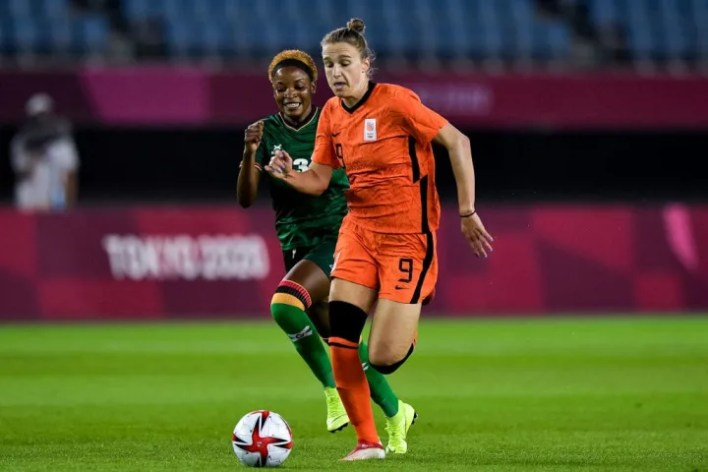 Vivianne Miedema scored four as Netherlands won 10-3 against Zambia