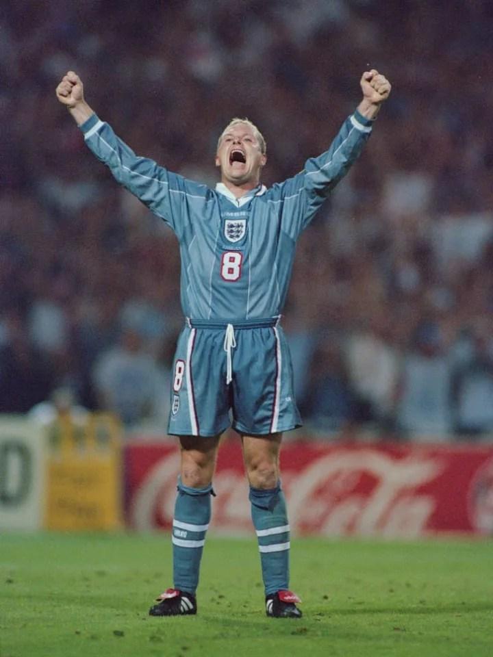 Paul Gascoigne 1996 European Championships Semi Final v Germany