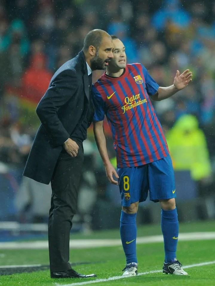 Andres Iniesta, Josep Guardiola