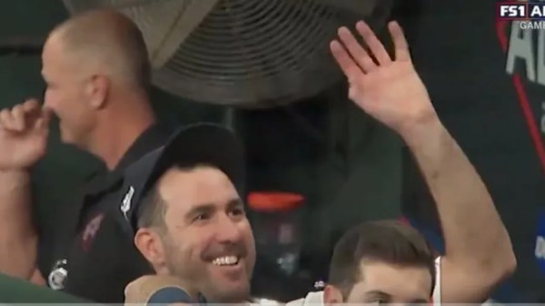 VIDEO: Justin Verlander Adorably Waves to Wife Kate Upton and Their Child From the Dugout