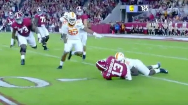 VIDEO: Tua Tagovailoa Limps off Field and Exits Game After Getting Sacked by Tennessee Defender
