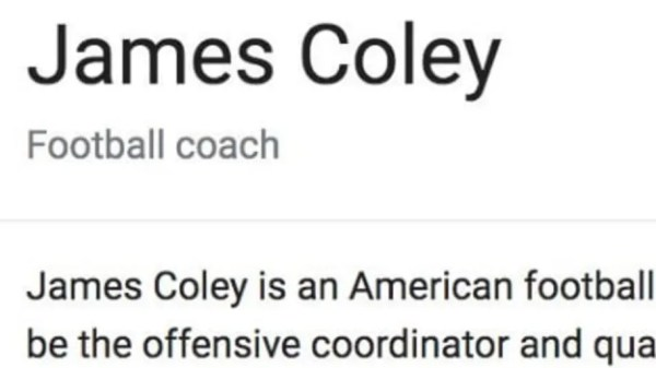 Someone Hilariously Trolled Georgia OC James Coley by Editing His Wikipedia Description