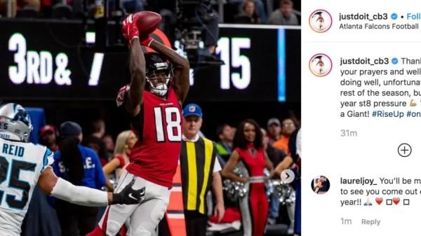 Falcons WR Calvin Ridley Announces He