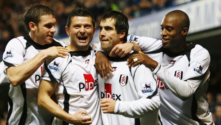LONDON - DECEMBER 30:  Goal scorer Carlos Bocanegra of Fulham celebrates with team mates as he scores their second goal during the Barclays Premiership match between Chelsea and Fulham at Stamford Bridge on December 30, 2006 in London, England.  (Photo by Clive Mason/Getty Images)  7 American Players That Pulisic Will Be Looking to Emulate by Succeeding in the Premier League chelsea v fulham 5c2f76468b090719b0000005