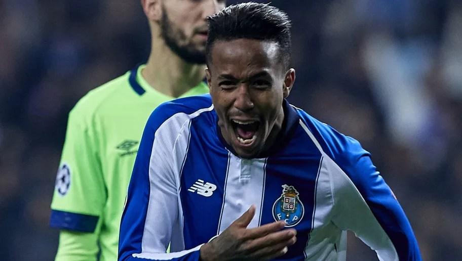 Porto Portugal November  Eder Militao Of Fc Porto Celebrates After Scoring His
