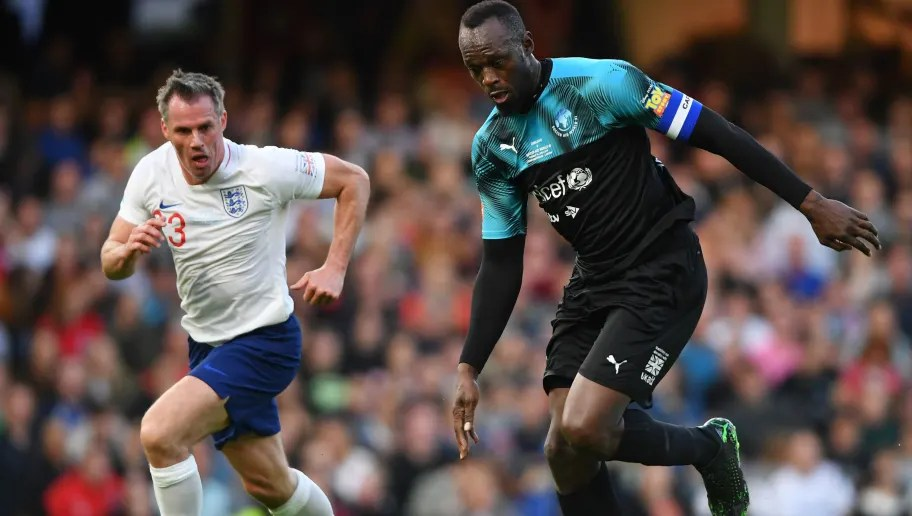 Twitter Reacts as Usain Bolt Humiliates Jamie Carragher at Soccer Aid 2019  | ht_media