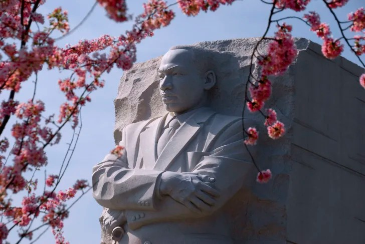 The Martin Luther King Jr. monument in Washington, D.C.