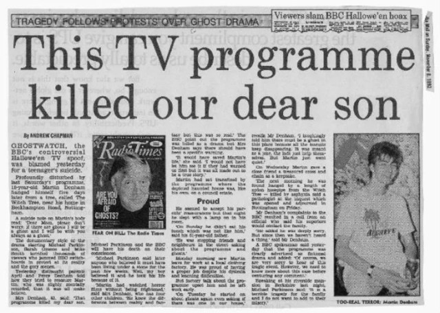 Image result for ghostwatch suicide