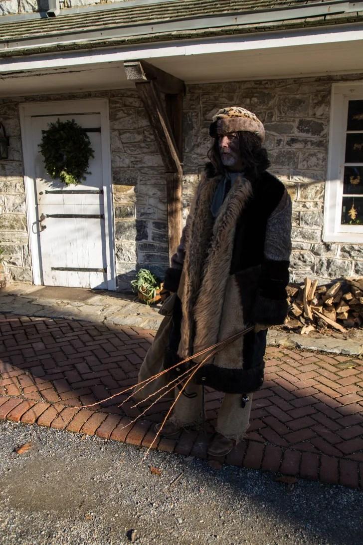An interpreter in Lancaster, Pennsylvania, portrays Belsnickel at the Landis Valley Farm Museum